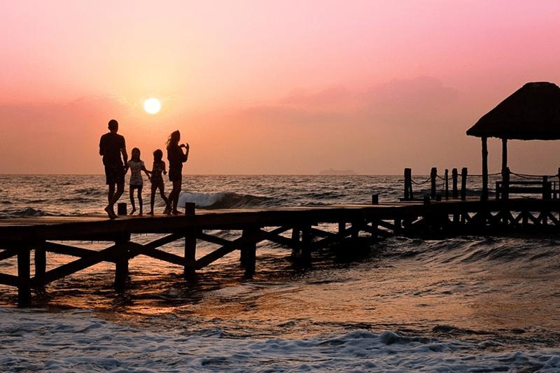 ocean pier sunsets